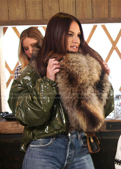Lisa's green cropped jacket on The Real Housewives of Salt Lake City