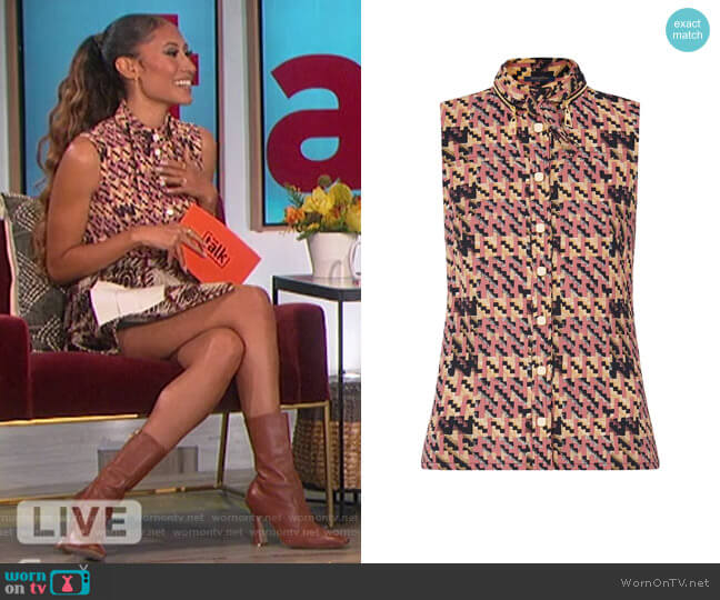 Sleeveless Shirt by Louis Vuitton worn by Elaine Welteroth  on The Talk