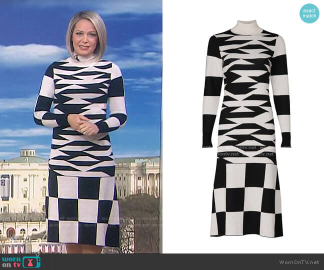 Abstract Geo Sweater Dress by Louna worn by Dylan Dreyer  on Today