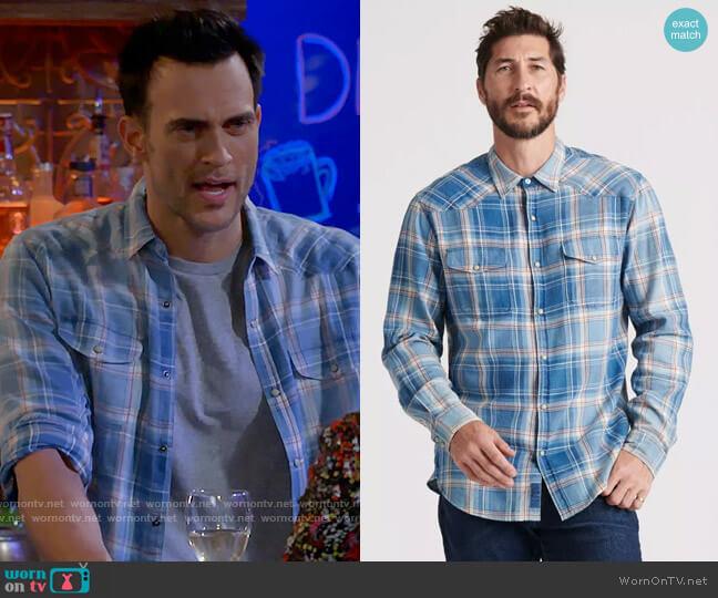 Lucky Brand Grom Plaid Shirt worn by Max (Cheyenne Jackson) on Call Me Kat