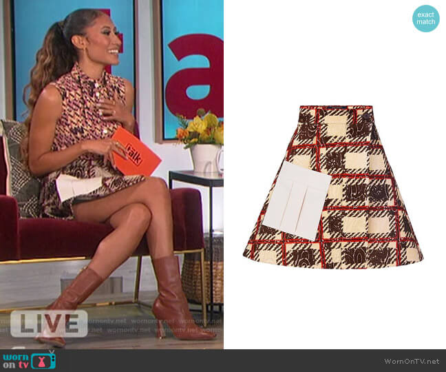 A-line Wrap Skirt by Louis Vuitton worn by Elaine Welteroth  on The Talk