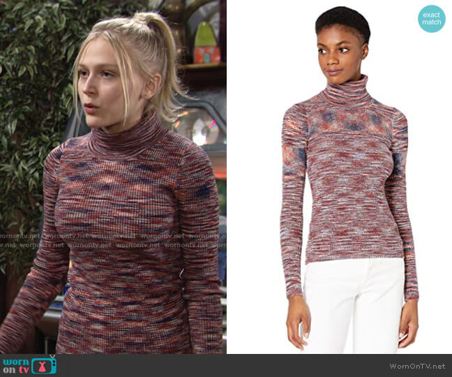 Madewell Space Dye Josh Slim Rib Turtleneck worn by Faith Newman (Alyvia Alyn Lind) on The Young & the Restless