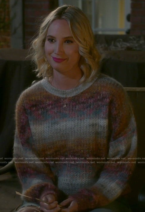 Mandy's ombre sweater on Last Man Standing