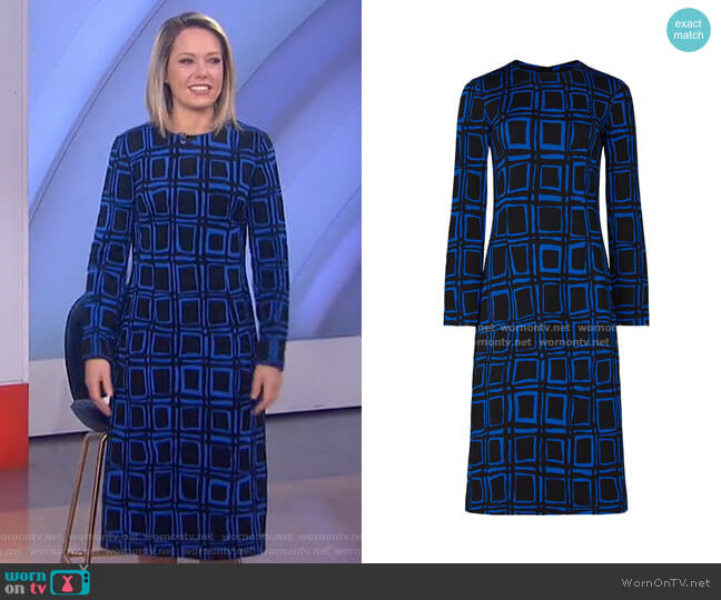 Electric Blue Printed Dress by Marni worn by Dylan Dreyer  on Today