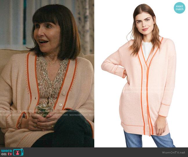 V Neck Cashmere Cardigan by Marni worn by Maggie Clarke (Mary Steenburgen) on Zoeys Extraordinary Playlist