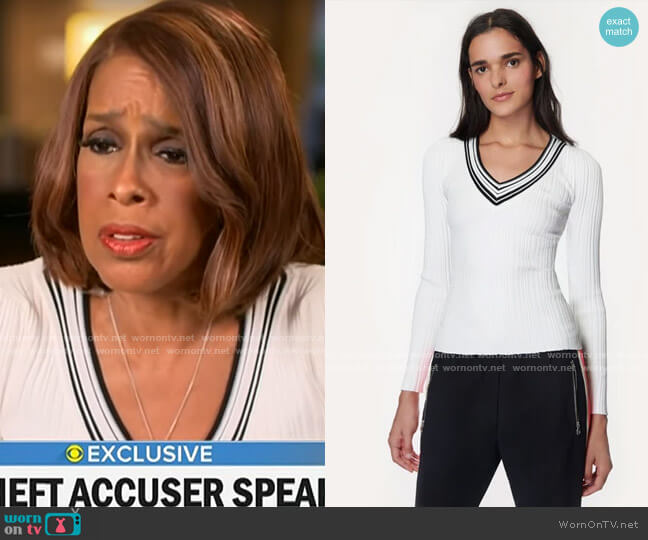Milly Francesca Pullover worn by Gayle King  on CBS This Morning