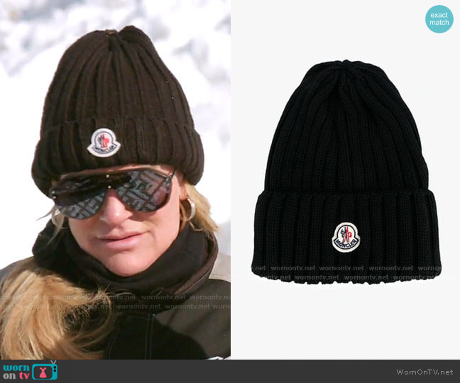 Ribbed Beanie by Moncler worn by Heather Gay  on The Real Housewives of Salt Lake City