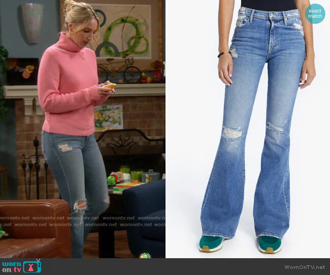 Mother The Super Cruiser Jeans in On Holy Ground worn by Mandy Baxter (Molly McCook) on Last Man Standing