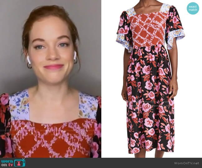 Yves Patchwork Dress by No.6 worn by Jane Levy on Today