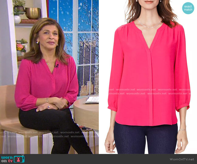 Pintuck Blouse by NYDJ worn by Hoda Kotb  on Today