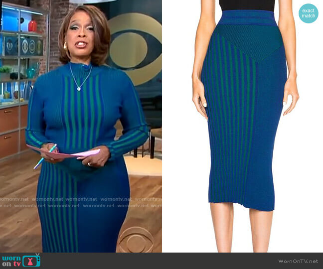 Ohne Titel Plaited Rib Skirt worn by Gayle King  on CBS This Morning