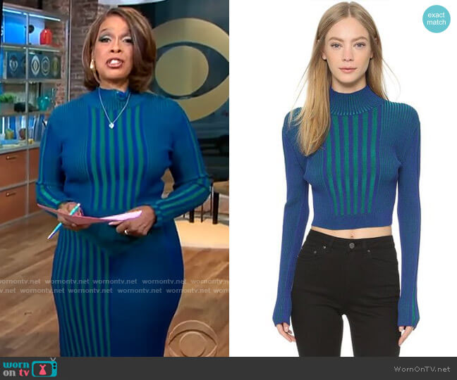 Ohne Titel Plaited Rib Sweater worn by Gayle King  on CBS This Morning