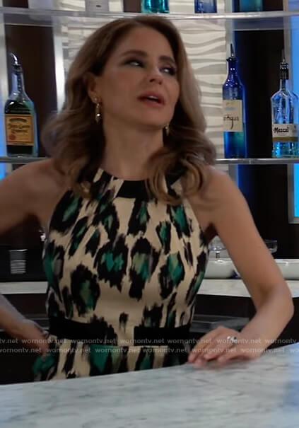 Olivia's leopard print sheath dress on General Hospital