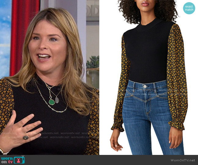 Long Sleeve Mixed Sweater by Opening Ceremony worn by Jenna Bush Hager  on Today