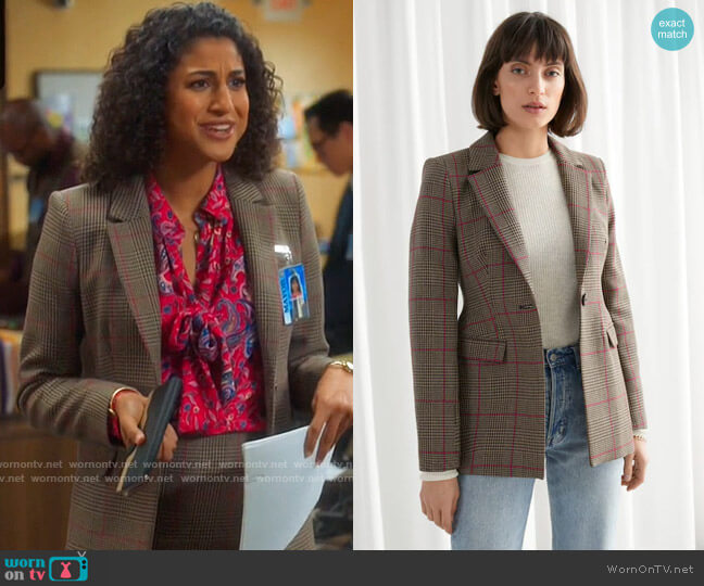 & Other Stories Hourglass Blazer worn by Mikaela Shaw (Vella Lovell) on Mr Mayor