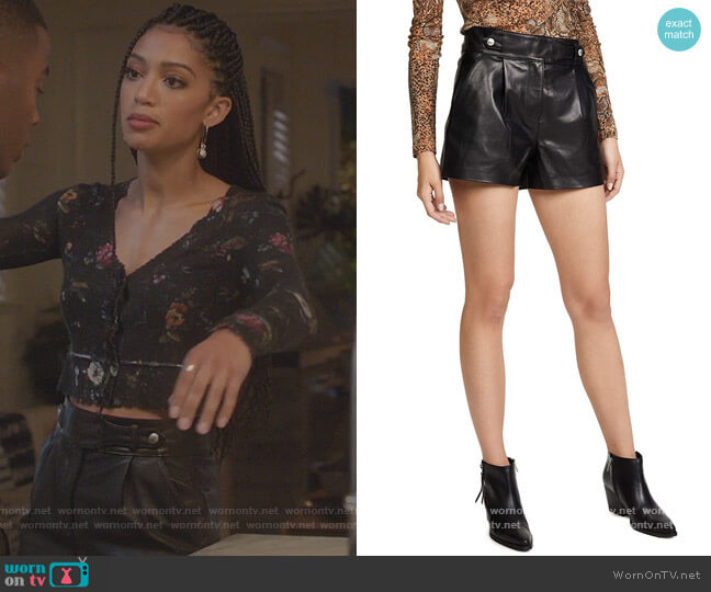 Colima Shorts by Paige worn by Olivia Baker (Samantha Logan) on All American