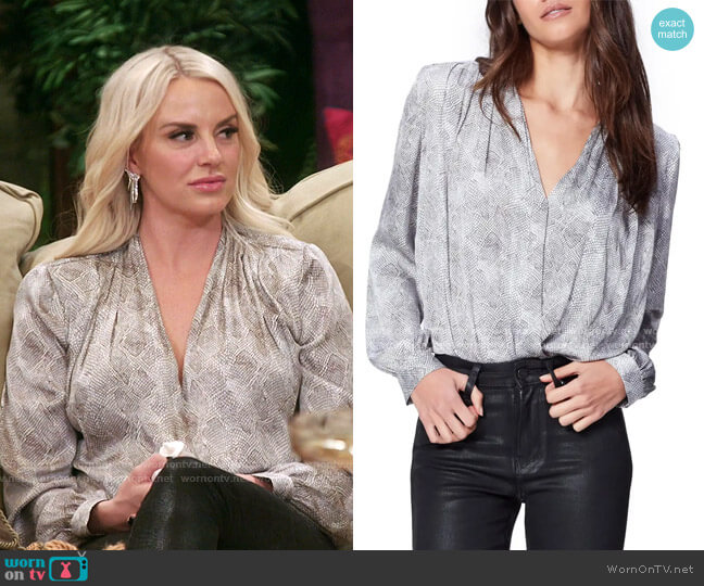 Sevilla Surplice Bodysuit by Paige worn by Whitney Rose  on The Real Housewives of Salt Lake City