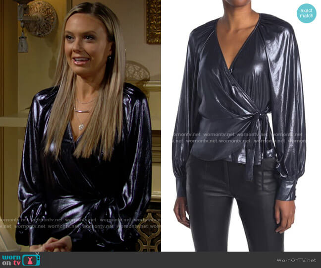 Parker Sheridan Blouse worn by Abby Newman (Melissa Ordway) on The Young & the Restless