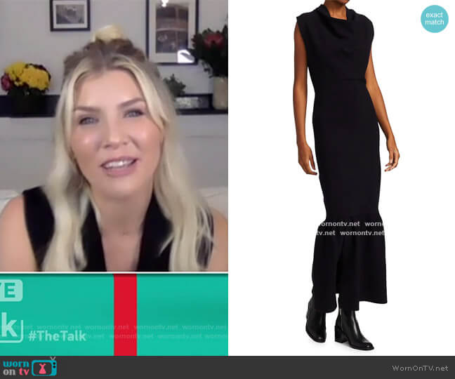 Military Cowl-Neck Ribbed Dress by 3.1 Phillip Lim worn by Amanda Kloots  on The Talk