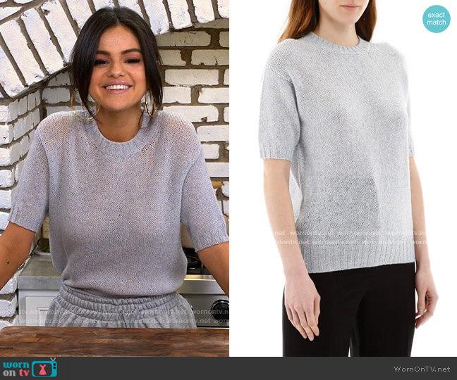 Prada Shetland F 5 Short Sleeved Sweater worn by Selena Gomez  on Selena + Chef
