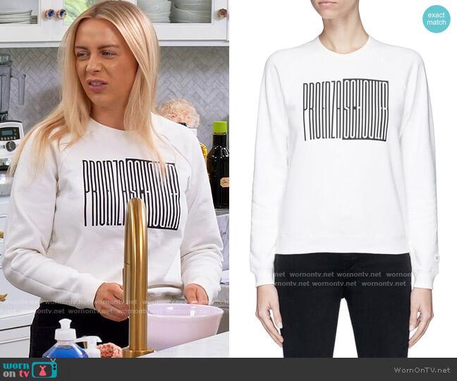Proenza Schouler PSWL graphic print cotton sweatshirt