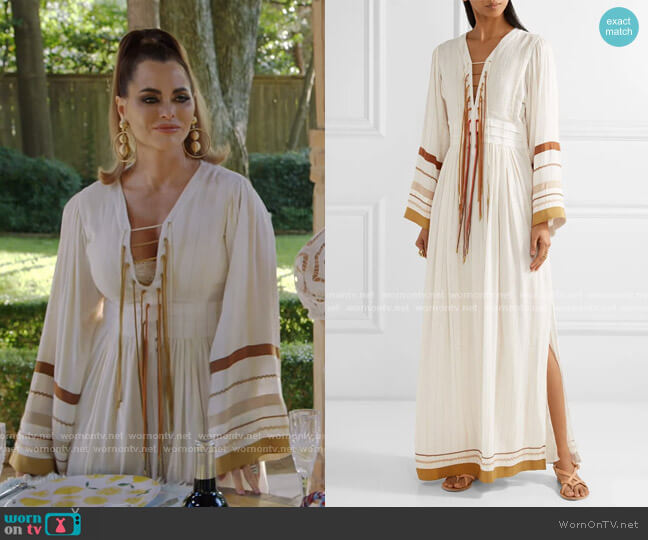 Annabel Maxi Dress by Rachel Zoe worn by D'Andra Simmons  on The Real Housewives of Dallas