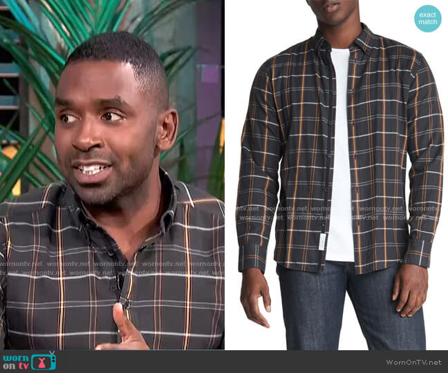 Fit 2 Tomlin Plaid Button-Down Shirt by Rag & Bone worn by Justin Sylvester  on E! News