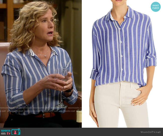 Rails Sydney Shirt in Cadiz Stripe worn by Vanessa Baxter (Nancy Travis) on Last Man Standing