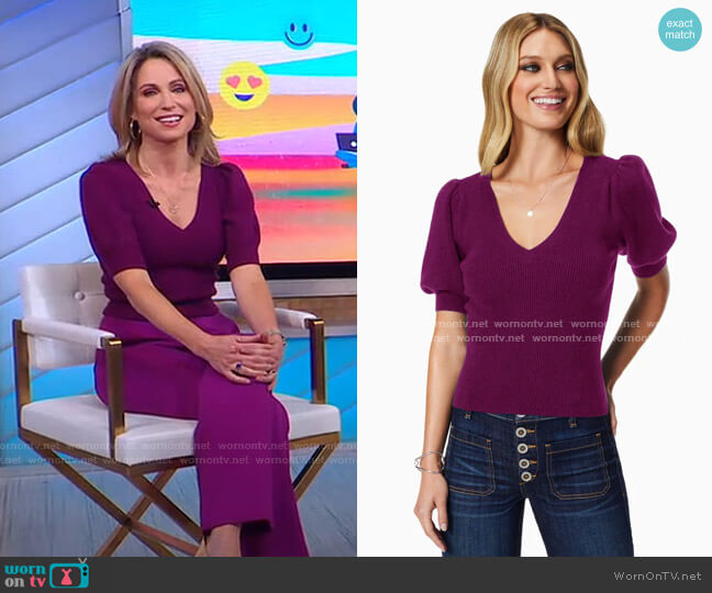 Rory Sweater by Ramy Brook worn by Amy Robach  on Good Morning America