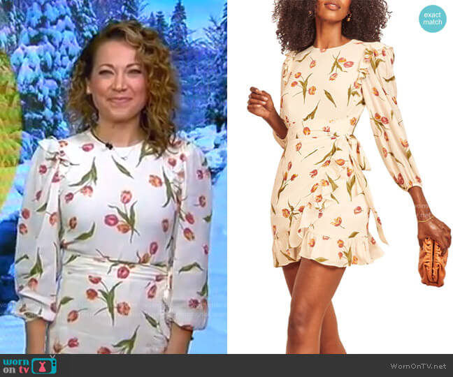 Long Sleeve Minidress by Reformation worn by Ginger Zee  on Good Morning America
