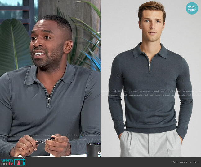 Robertson Polo Shirt by Reiss worn by Justin Sylvester  on E! News