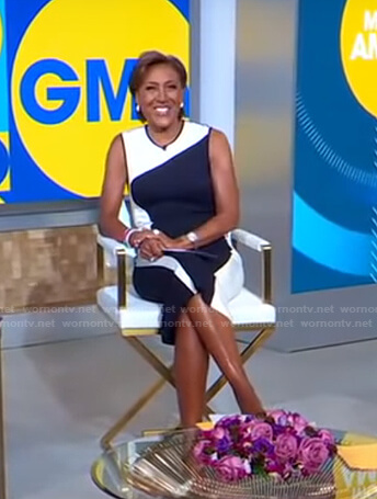 Robin's wave colorblock dress on Good Morning America