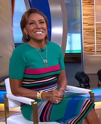 Robin's green striped dress on Good Morning America