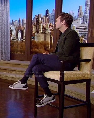 Ryan's black and grey sneakers on Live with Kelly and Ryan