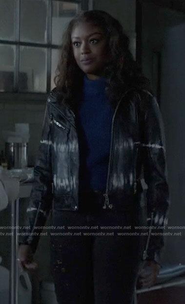 Ryan's tie dye leather jacket on Batwoman