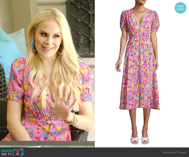 Lea Midi Dress by Saloni worn by Kameron Westcott  on The Real Housewives of Dallas