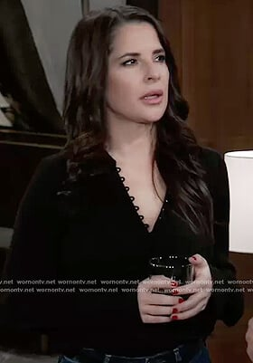 Sam's black silk blouse on General Hospital