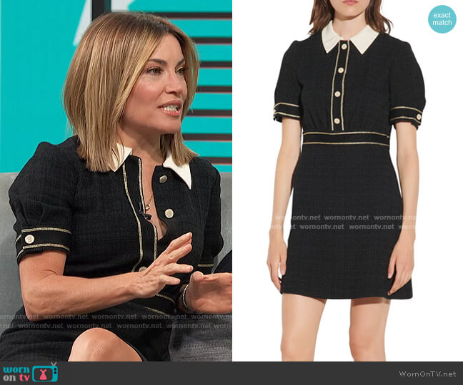 Tweed Minidress by Sandro worn by Kit Hoover  on Access Hollywood