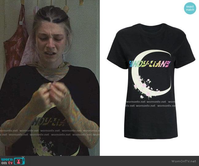 Sandy Liang Moon Print T-shirt worn by Jules Vaughn (Hunter Schafer) on Euphoria