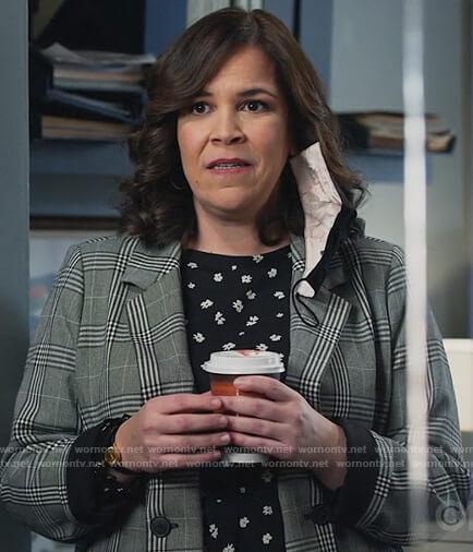 Sara's gray check blazer on All Rise