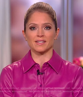 Sara's pink leather top on The View