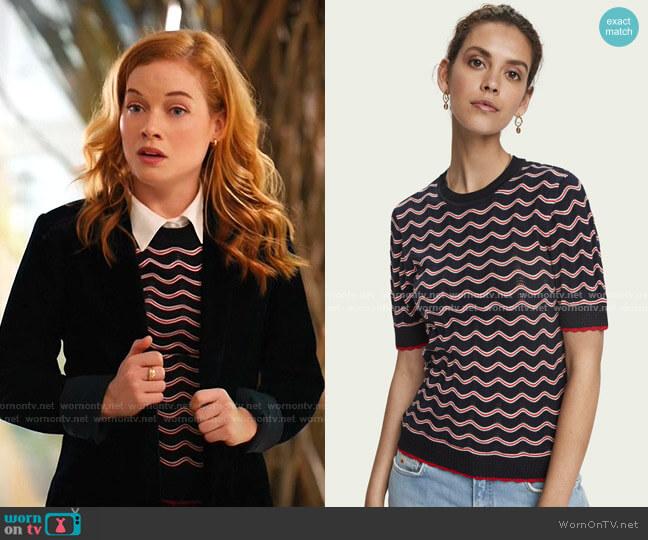 Knitted Short Sleeve T-Shirt by Scotch & Soda worn by Zoey Clarke (Jane Levy) on Zoeys Extraordinary Playlist