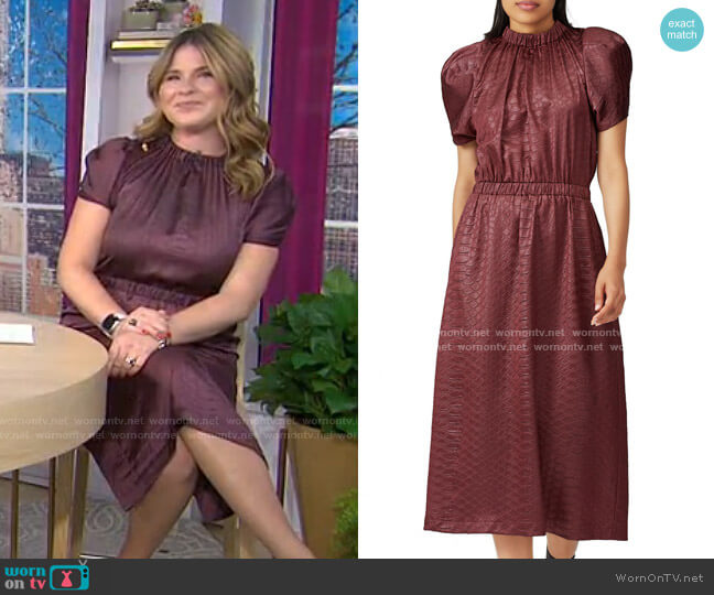 Simone Midi Dress by Sea worn by Jenna Bush Hager  on Today