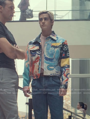 Shane's painting print jacket on Tiny Pretty Things