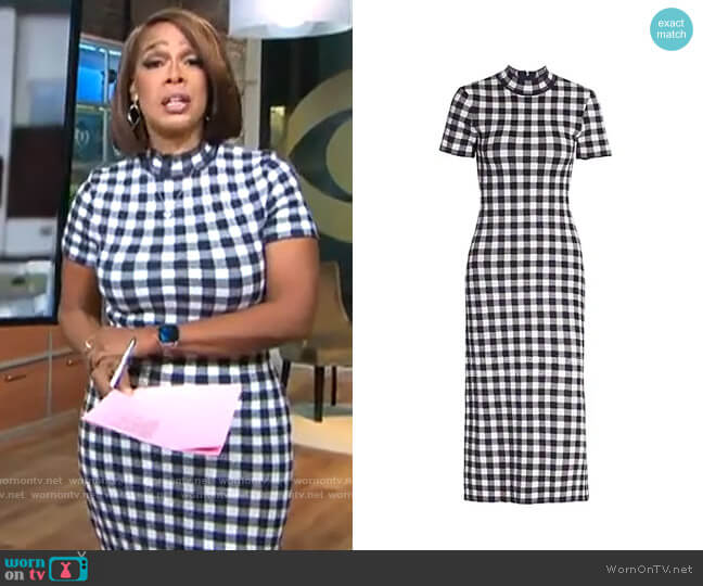 Staud Heli Dress worn by Gayle King  on CBS This Morning