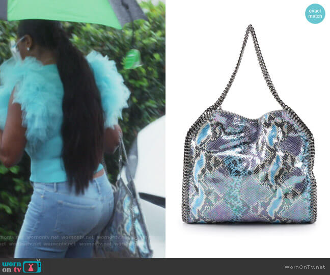 Falabella Toge Bag by Stella McCartney worn by Kenya Moore  on The Real Housewives of Atlanta