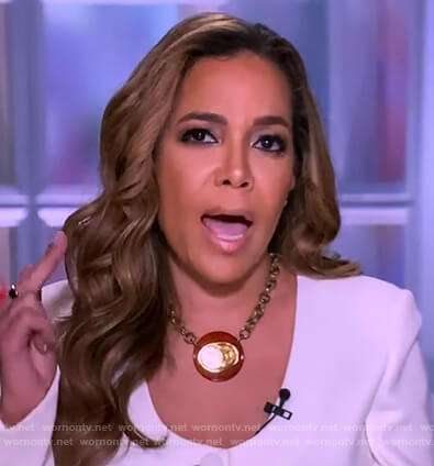 Sunny's white button down blazer on The View