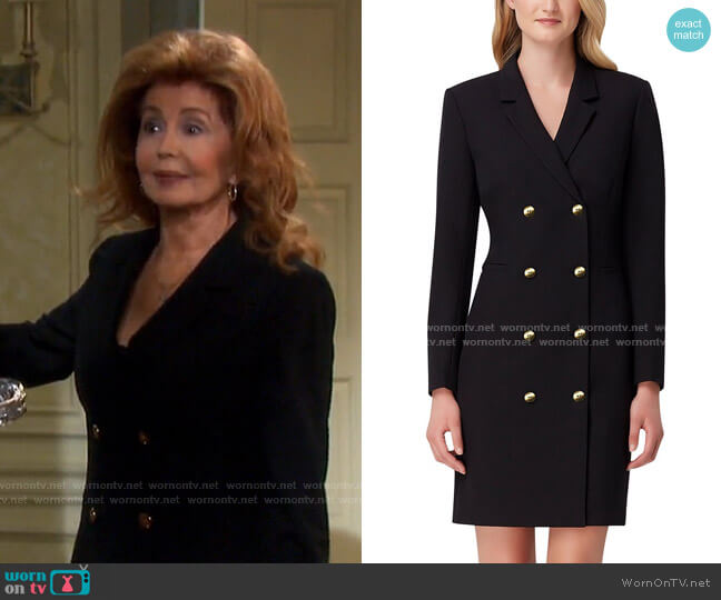 Long-Sleeve Blazer Dress by Tahari ASL worn by Maggie Horton (Suzanne Rogers) on Days of our Lives