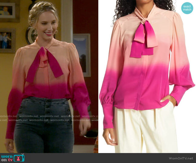 Tanya Taylor Susan Blouse worn by Mandy Baxter (Molly McCook) on Last Man Standing