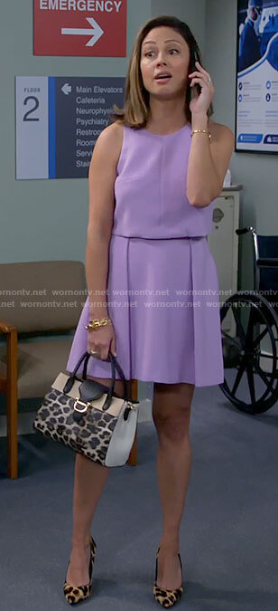 Tara's purple sleeveless dress on Call Me Kat